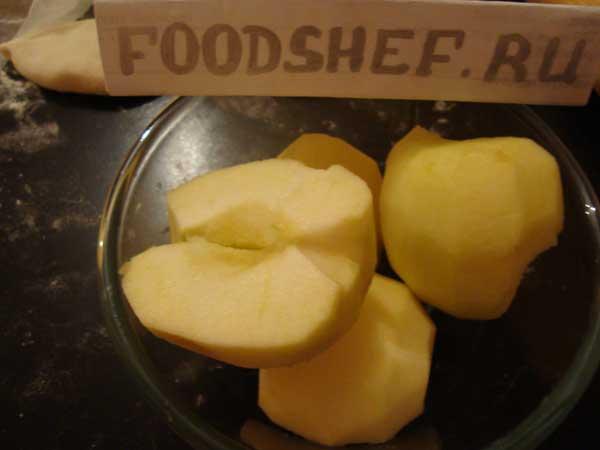 чищенные яблоки