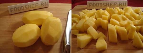 картошка нарезанная крупным кубиком