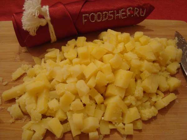 картофель кубиком