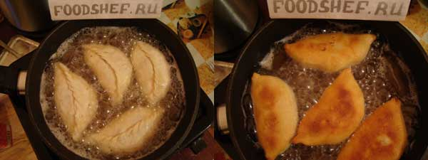 обжариваем пирожки