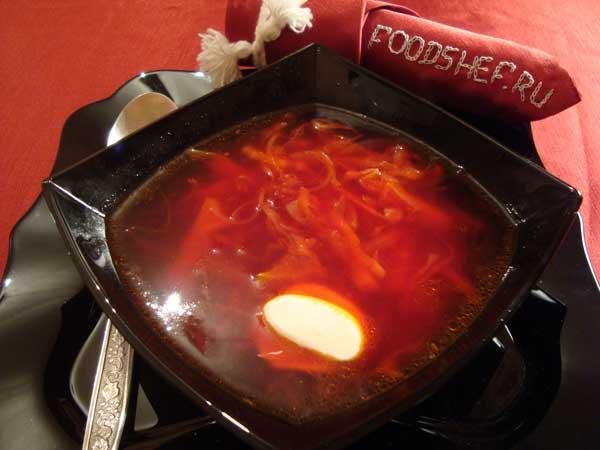 рецепт борща со свеклой