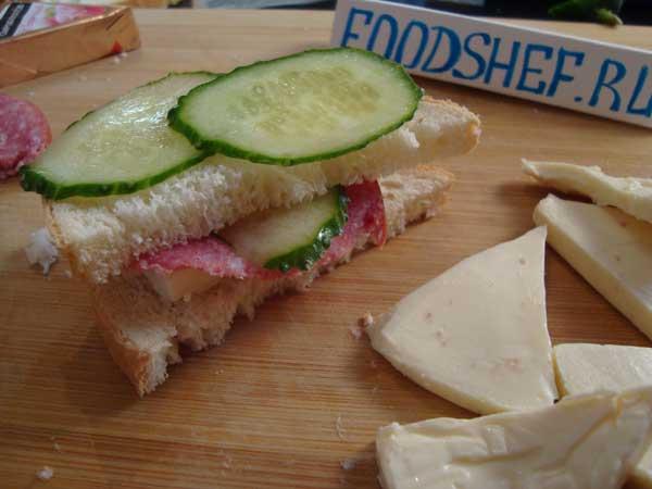 оформленный бутерброд