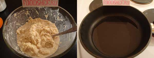 перемешиваем все ингредиенты и ставим разогревать сковороду