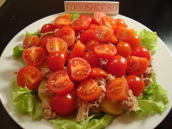 выкладываем помидоры черри