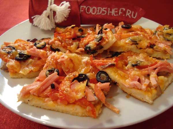 пицца в мультиварке рецепты