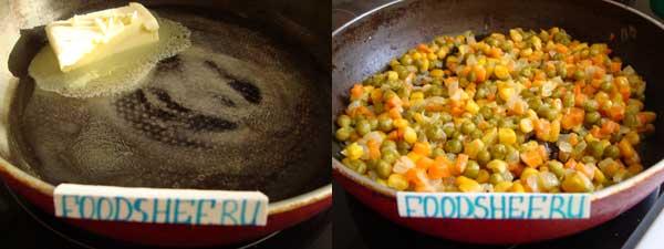 рис с овощами калорийность