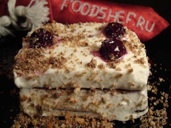 Торт из печенья «Ушки» без выпечки — рецепт с фото ...