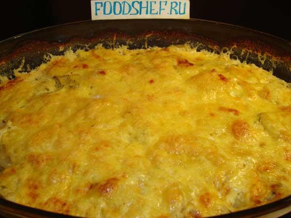 картошка по-французски с мясом курицы в духовке рецепт с фото