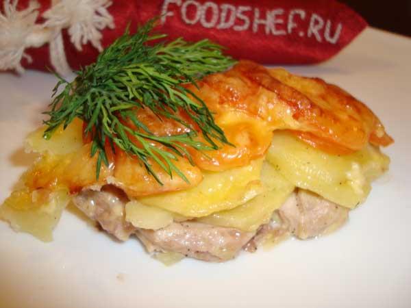 3.Мясо с картофелем по Французски