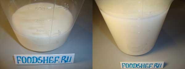 молоко с водой
