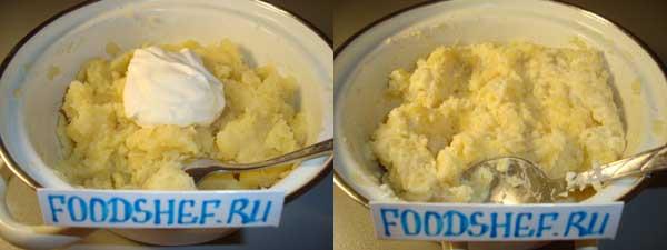 обминаем картофель