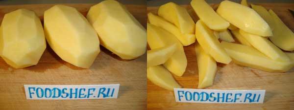 картофель дольками
