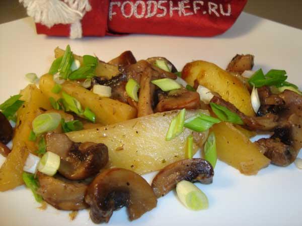 картофель с грибвми в мультиварке