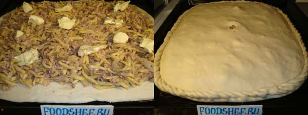 защипываем пирог