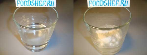 вода с мукой