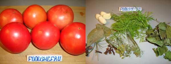 помидоры и специи