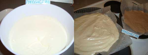 разливаем тесто