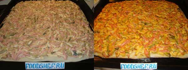 начиняем пиццу