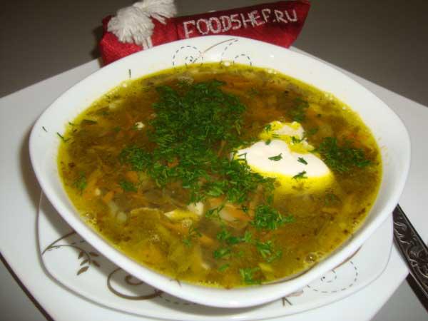 суп из щавеля классический рецепт