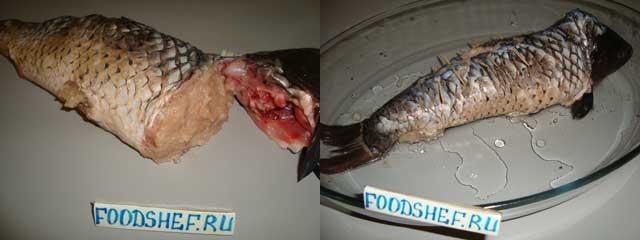 фаршируем рыбу