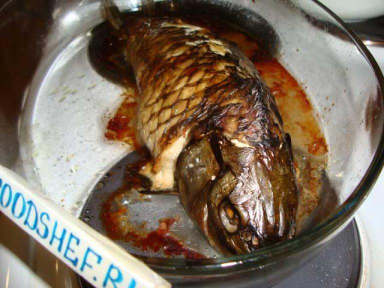 Карп в духовке в фольге рецепты в сметане