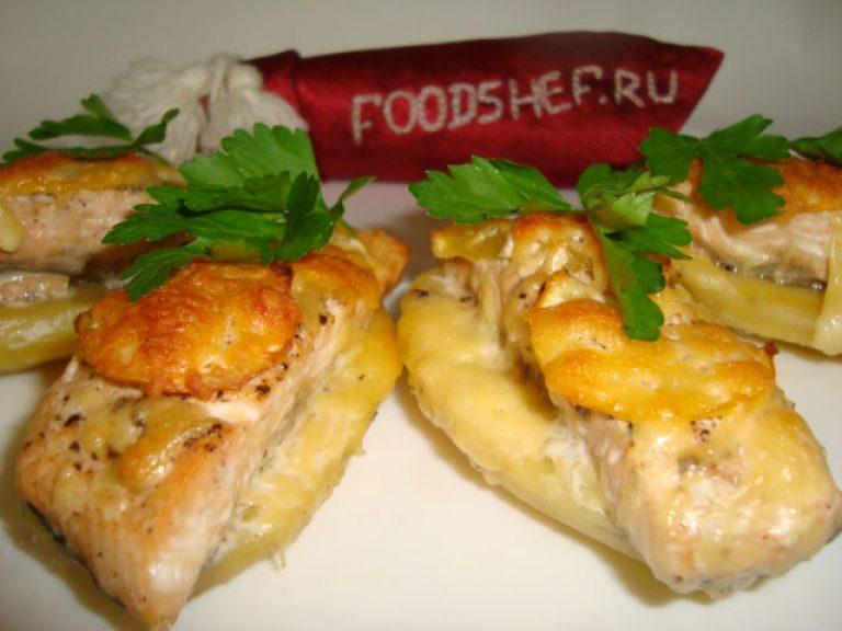 Рецепт приготовления горбуши в духовке с картошкой