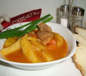 Вкусное жаркое по домашнему из свинины с картошкой