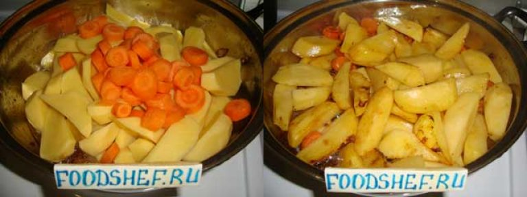 Как пожарить вкусно картошку на сковороде пошагово с