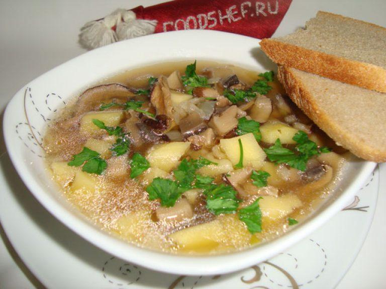 Вкусный суп из сушеных грибовы