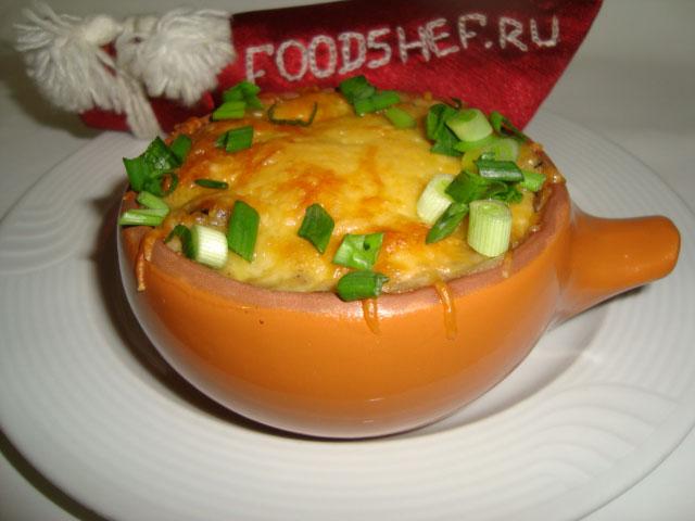 жульен с курицей и грибами в горшочках рецепт с фото пошагово в