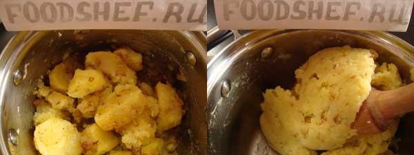 перетертый картофель с луком