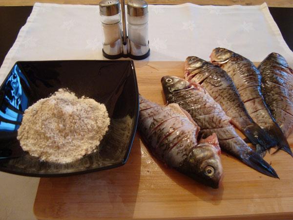 Мука с солью и перцем