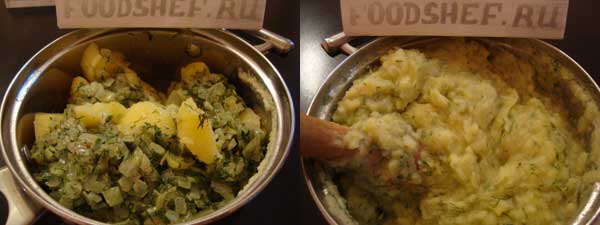 перетертый картофель