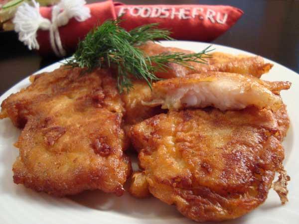 рецепт рыба в кляре