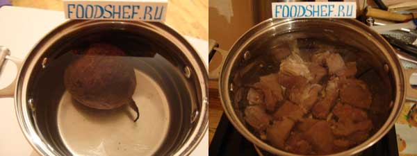 как варить борщ со свеклой