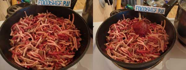 мясо и колбаса жареная-в-томате