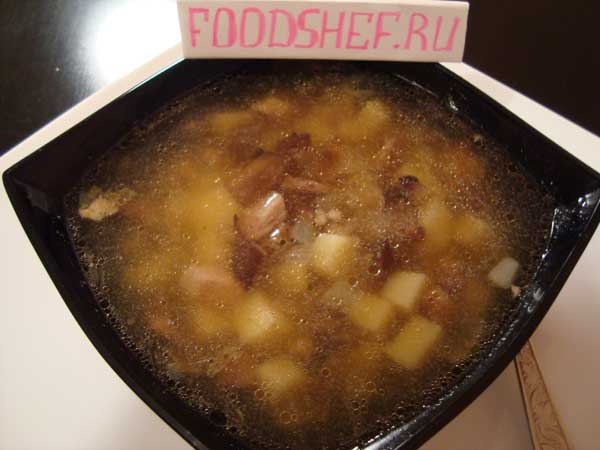 готовый грибной суп