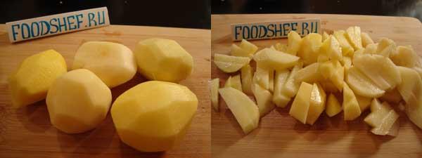 картошка нарезанная соломкой