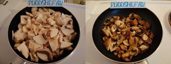 пицца с грибами рецепт