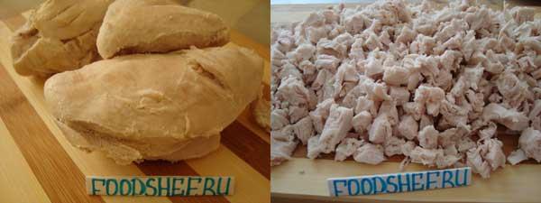 нарезанная курица