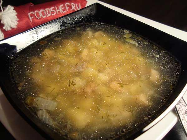 грибной суп из соленых груздей