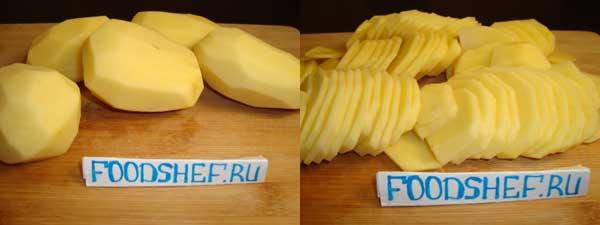 картошка по французски с фаршем