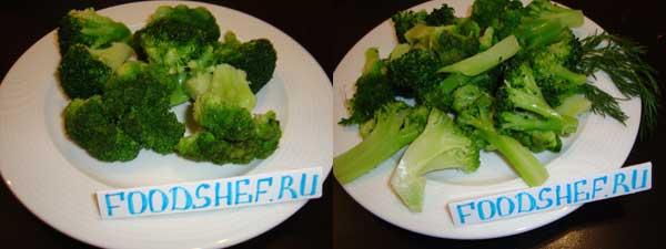 нарезанные брокколи