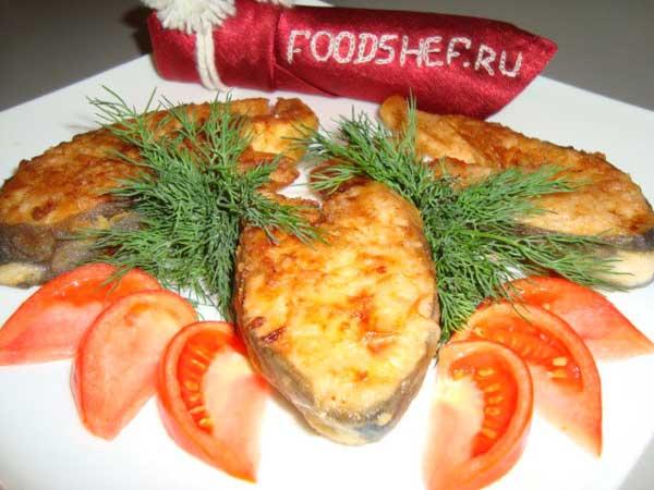 Жареная горбуша стейками на сковороде