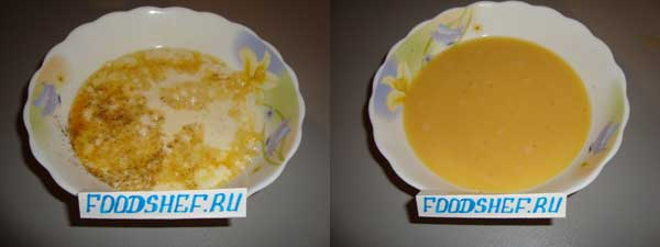 Яйца с молоком