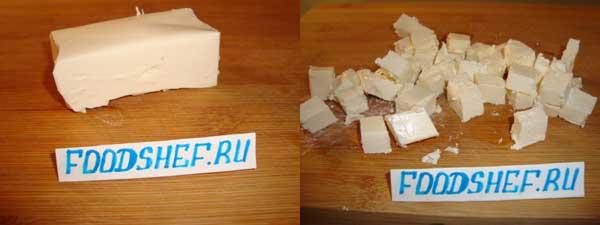 Сыр кубиком