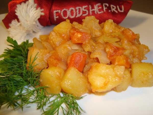 рагу овощное рецепт
