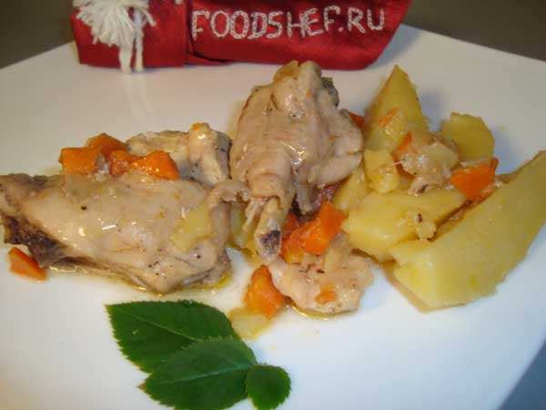 курица в мультиварке с картошкой