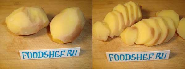 картофель кольцами