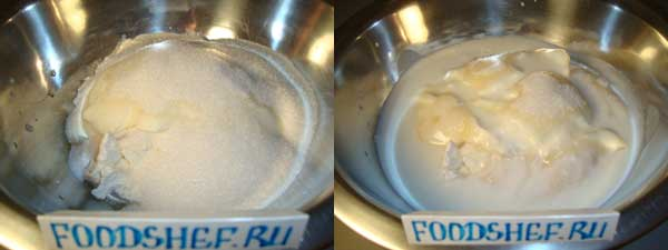 сахар и кефир
